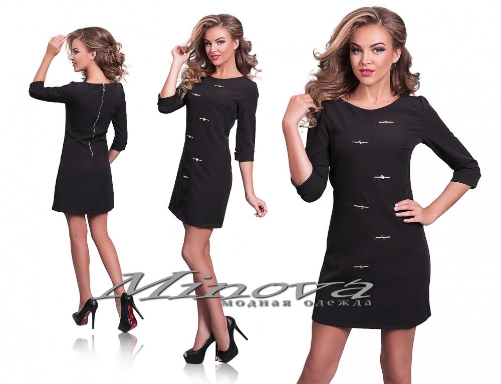 Платье №8541-1 черный (sale)