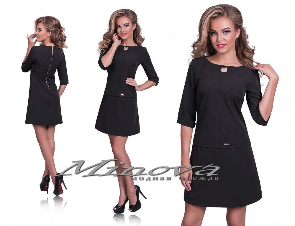 Платье №8540-1 черный (sale)