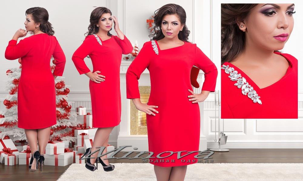 Платье №2-166-красный (sale)