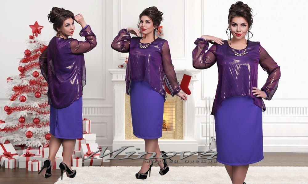 Платье №815-лиловый (sale)