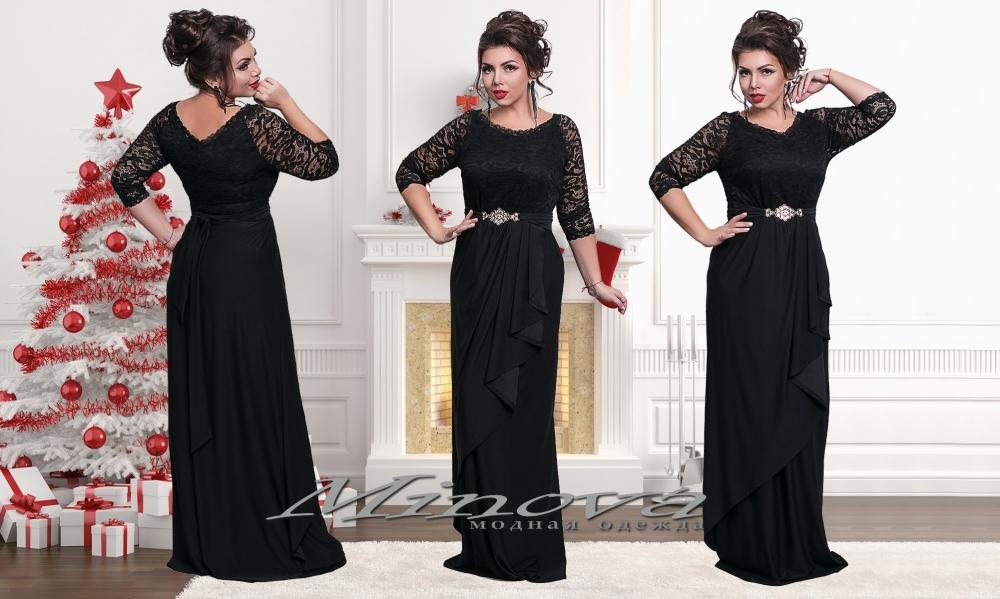 Платье №1229-1-черный (sale)