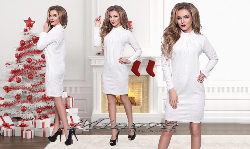 Платье №520-белый (sale)