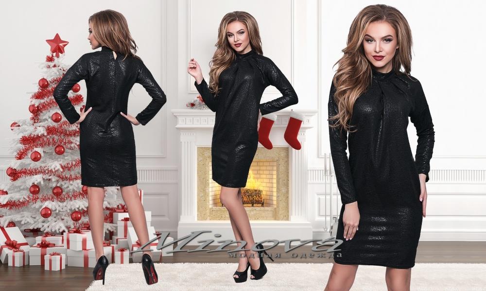 Платье №520-черный (sale)