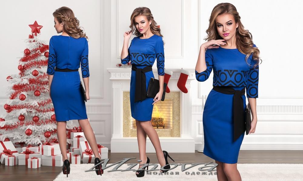 Платье №8546-электрик (sale)