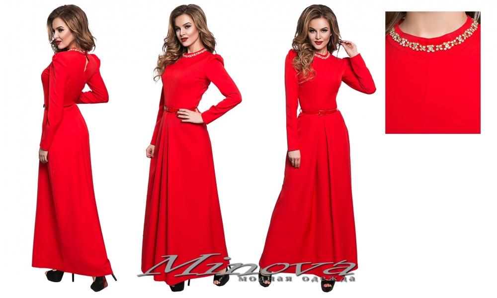 Платье №8549-красный (sale)