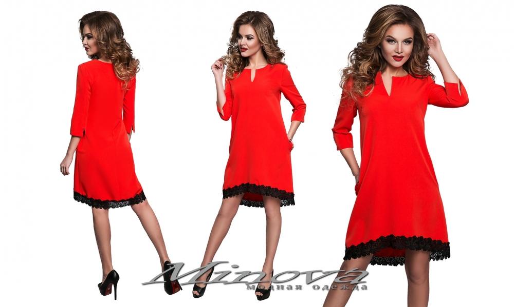 Платье №8550-красный (sale)