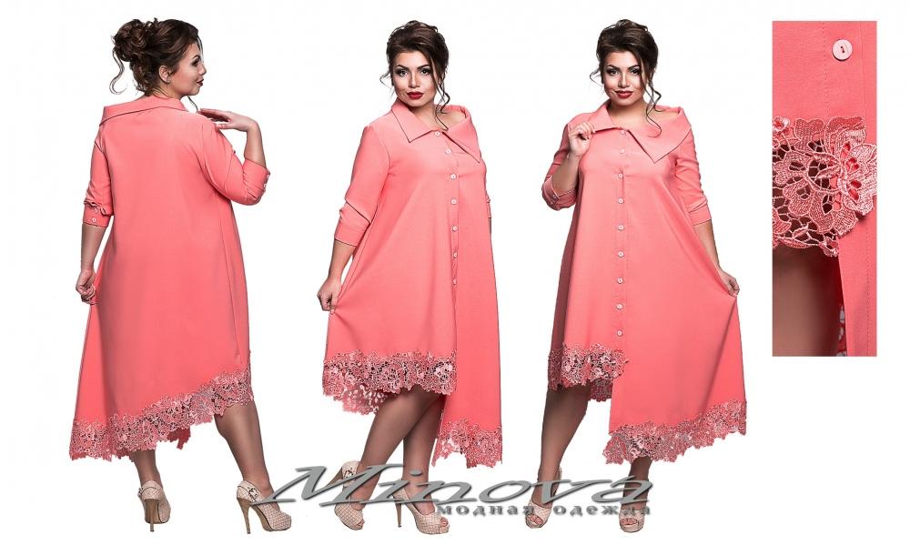 Платье №8551-коралл (sale)
