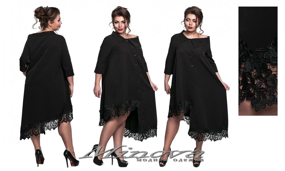 Платье №8551-черный (sale)