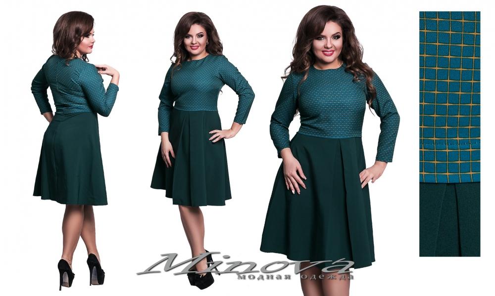 Платье №1114-зеленый (sale)
