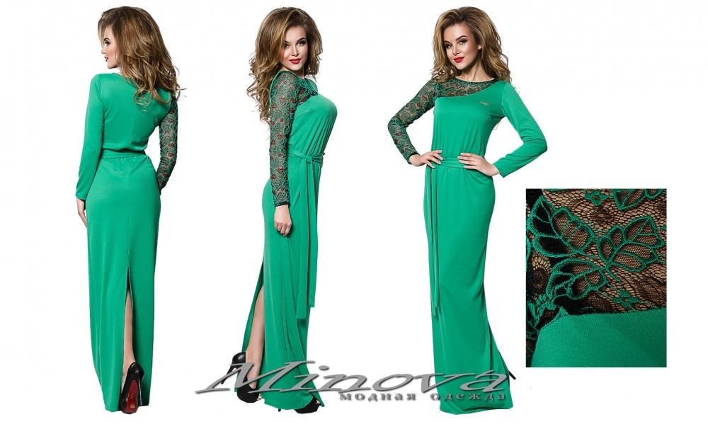 Платье №1247-зеленый (sale)
