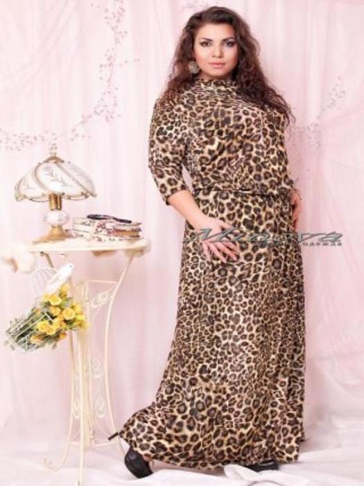 Платье Оксана-Лео-леопард (sale)
