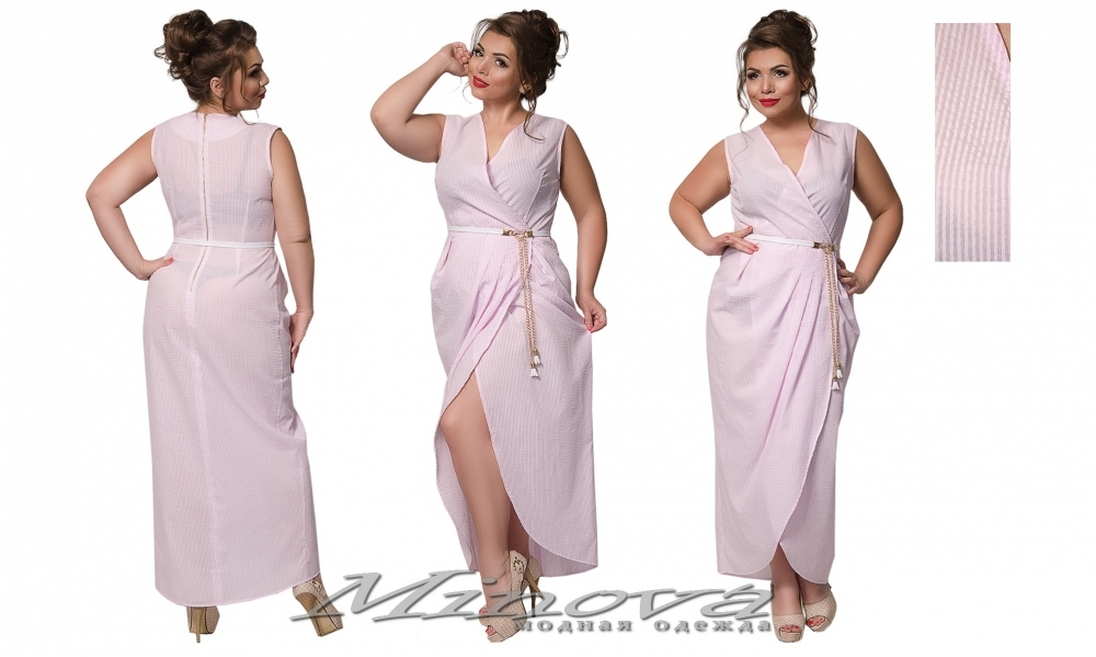 Платье №015б (розовый) (sale)