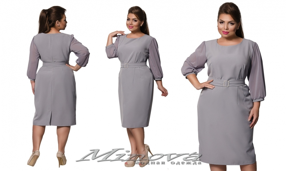 Платье №0192 (серый) (sale)