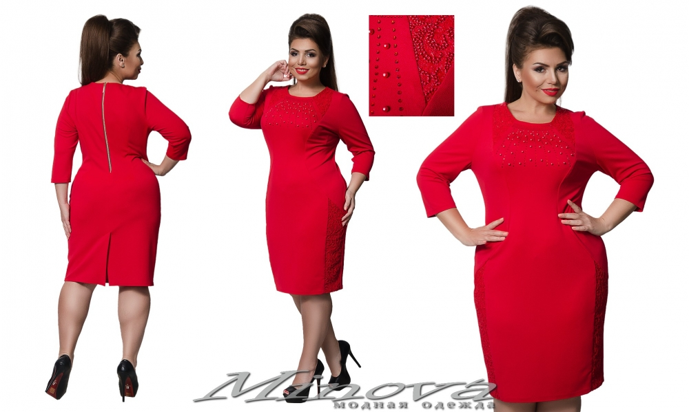 Платье №00015 (красный) (sale)