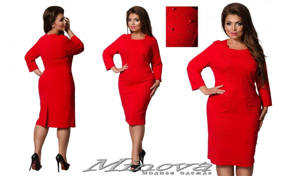 Платье №00018 (красный) (sale)