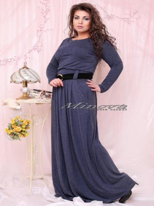 Платье №15-22-тем.синий (sale)