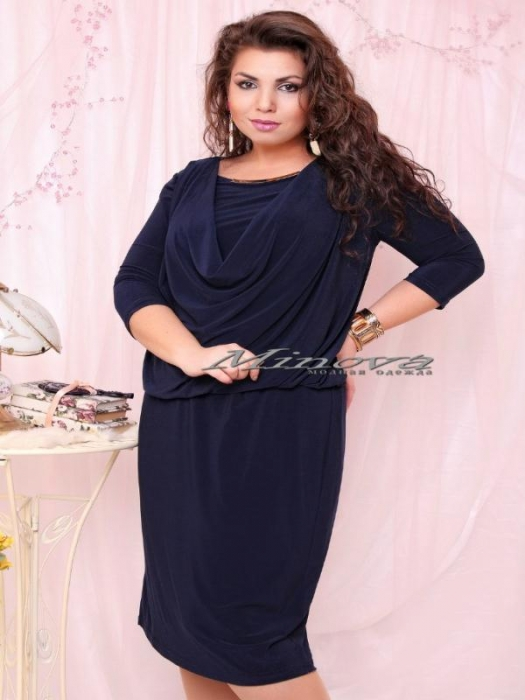Платье №15-35 Роксолана -тем.синий (sale)