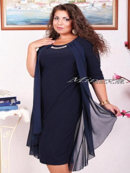 Платье Иринка-тем.синий (sale)