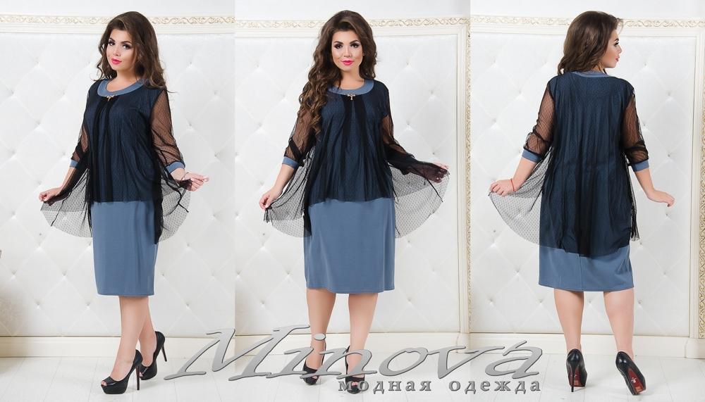 Платье №1306 (серый) (sale)