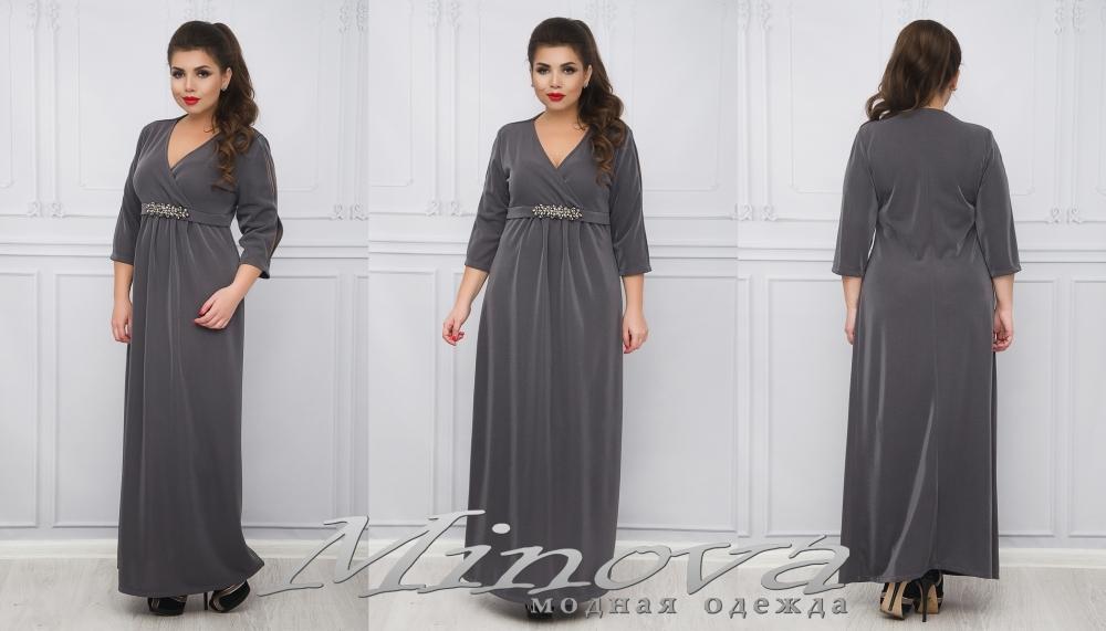 Платье №1125 (серый) (sale)