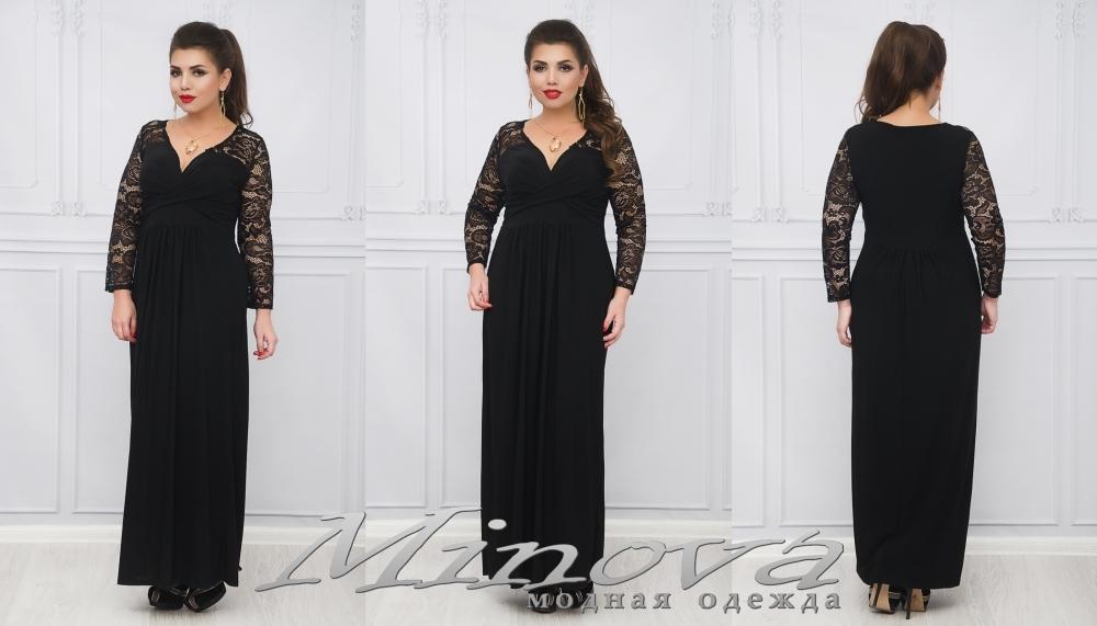 Платье №662 (черный) (sale)