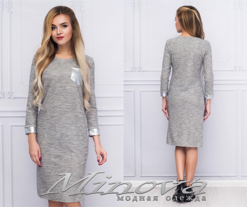 Платье №1067 (серый) (sale)
