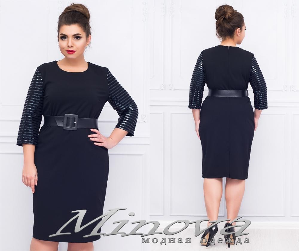Платье №077 (черный) (sale)