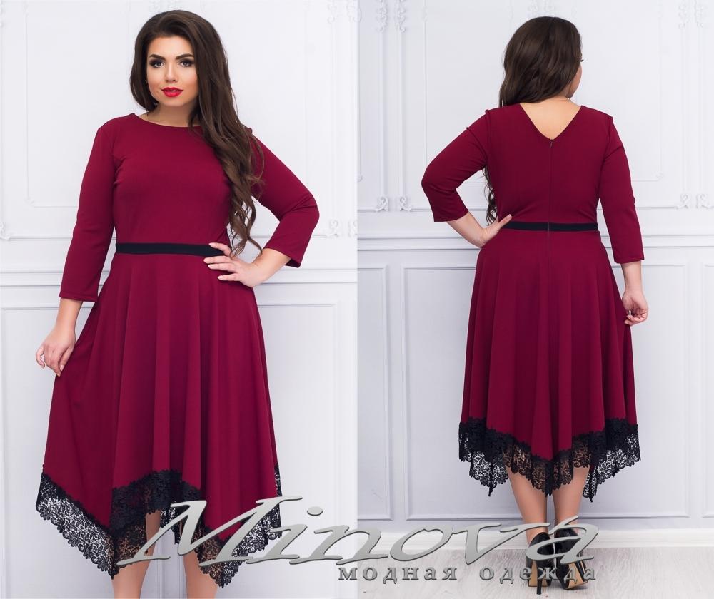 Платье №1181 (бордо) (sale)