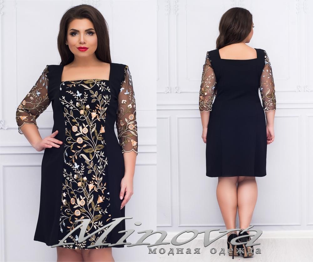 Платье №1314 (черный) (sale)