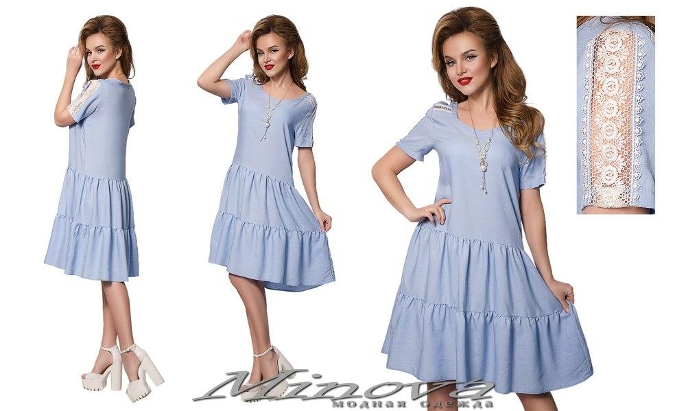 Платье №895 голубой (sale)