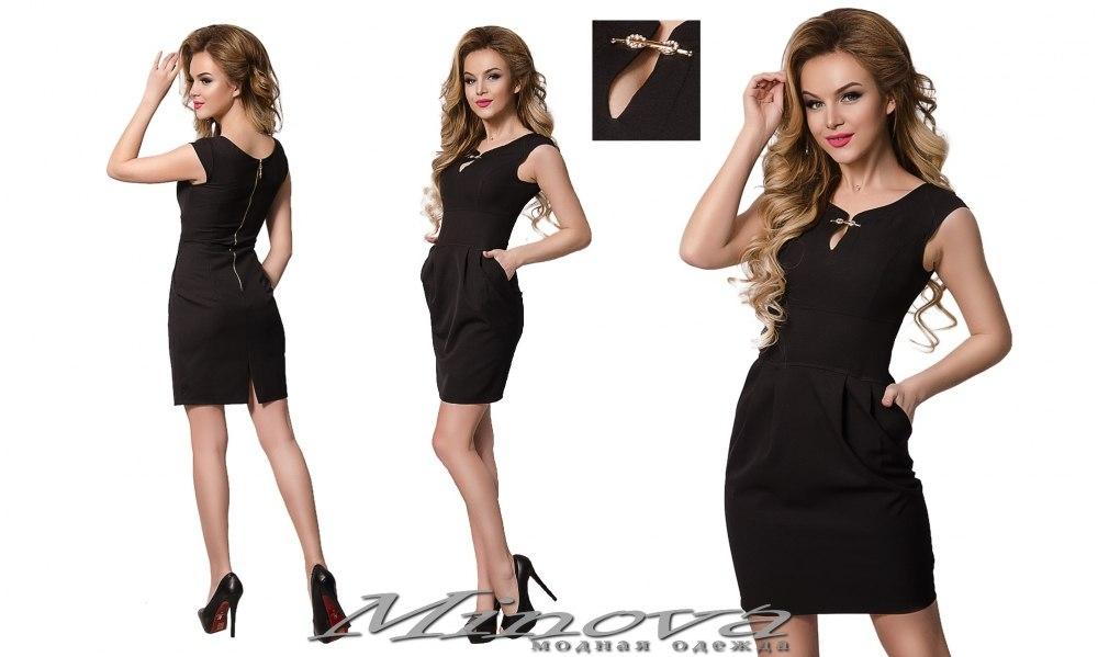 Платье №8543 (черный) (sale)