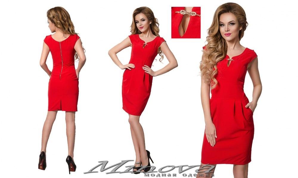 Платье №8543 (красный) (sale)