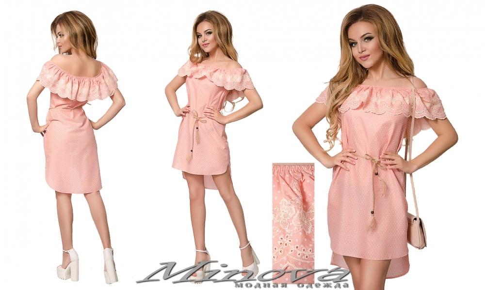 Платье №016 (персик) (sale)