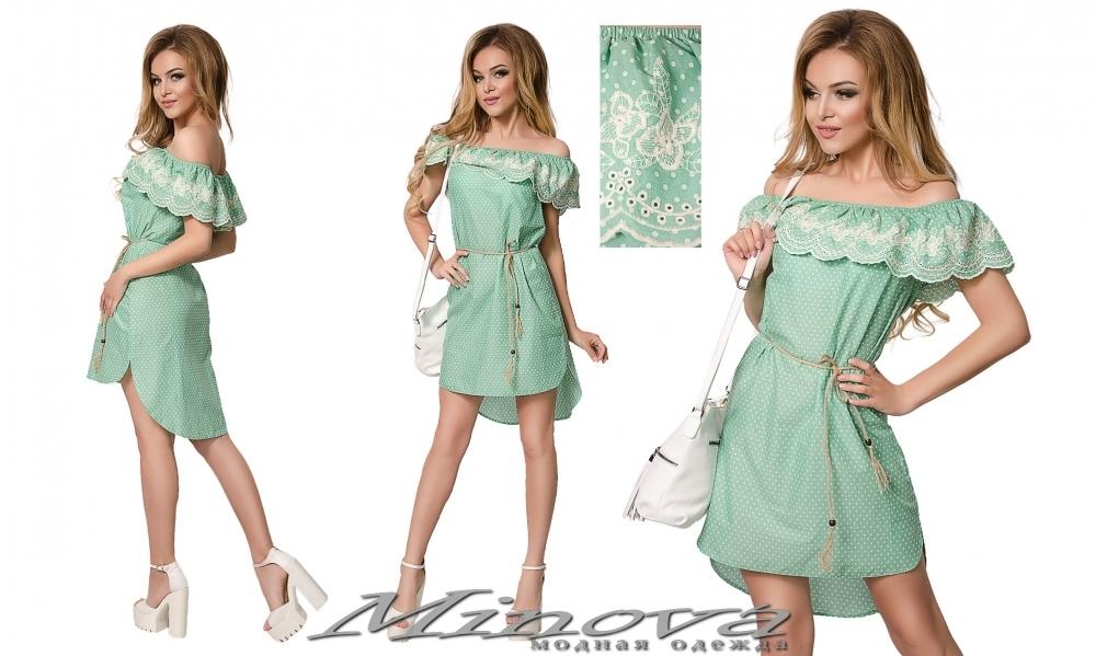 Платье №016 (салатовый) (sale)