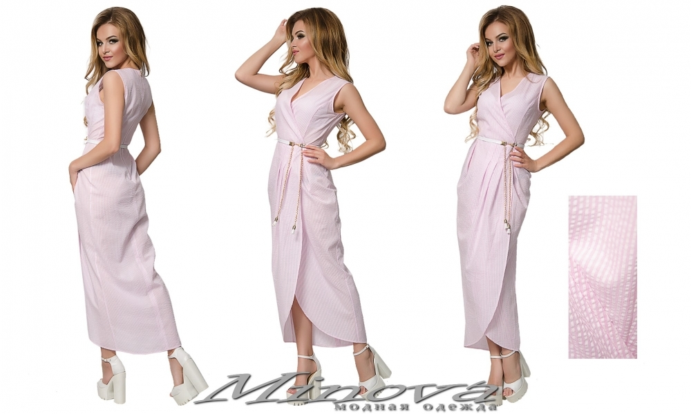 Платье №015н (розовый) (sale)