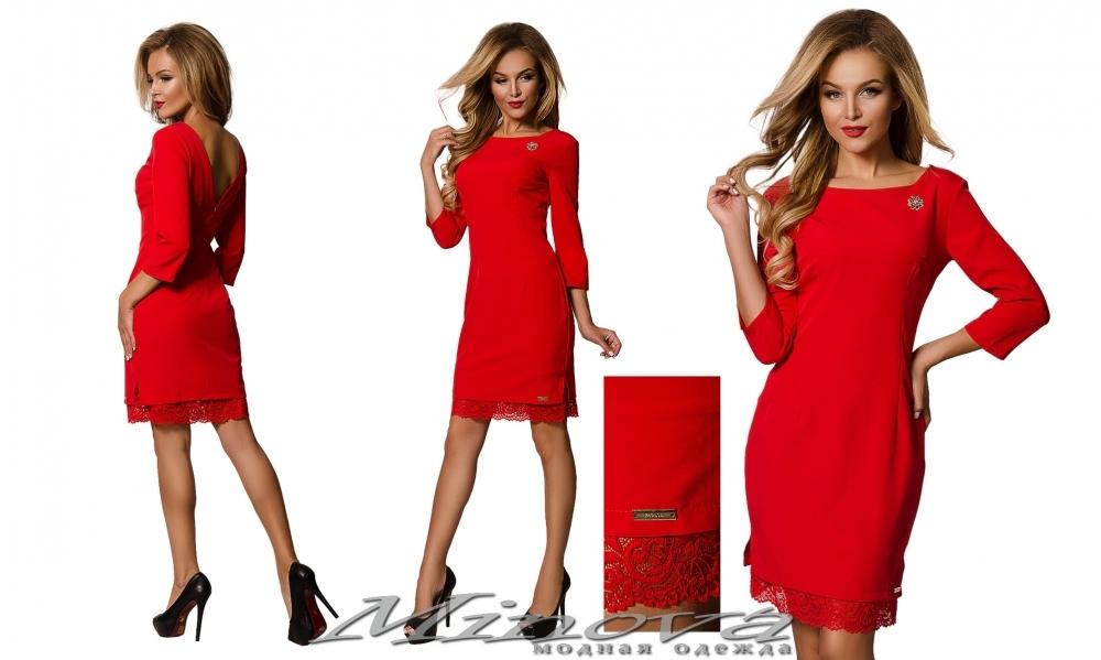 Платье №8555 (красный) (sale)