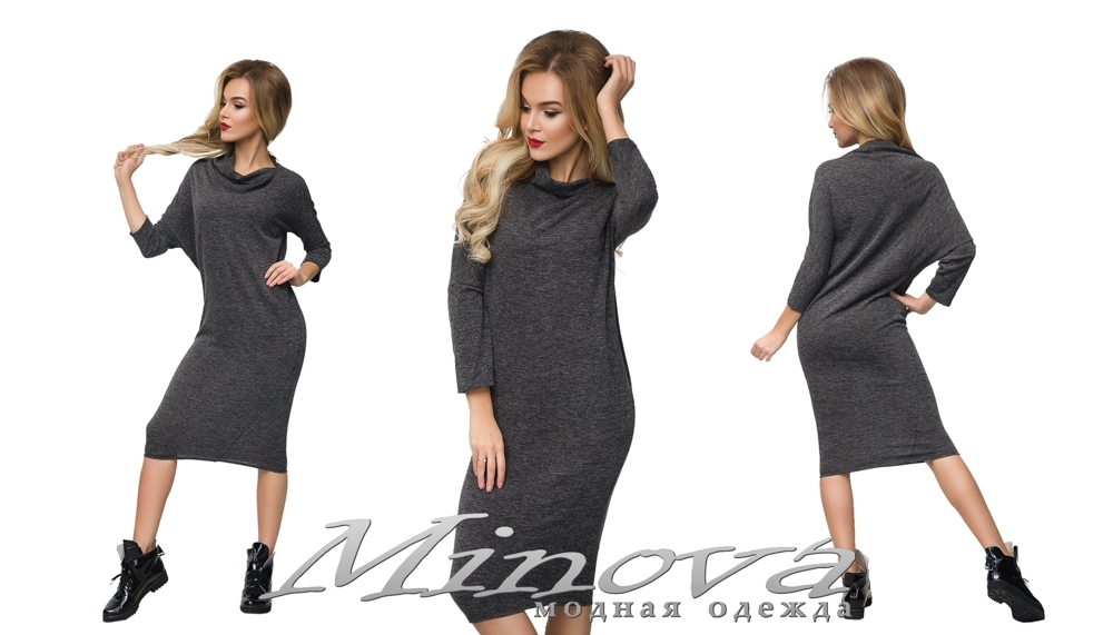 Платье №1008 (серый) (sale)