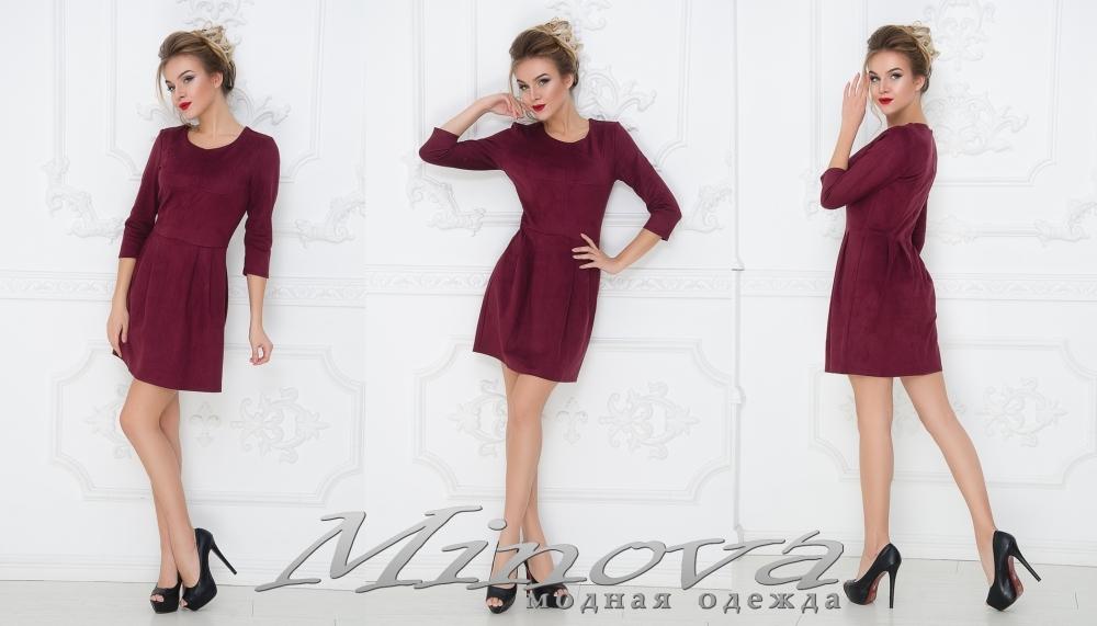 Платье №1002 (бордо) (sale)