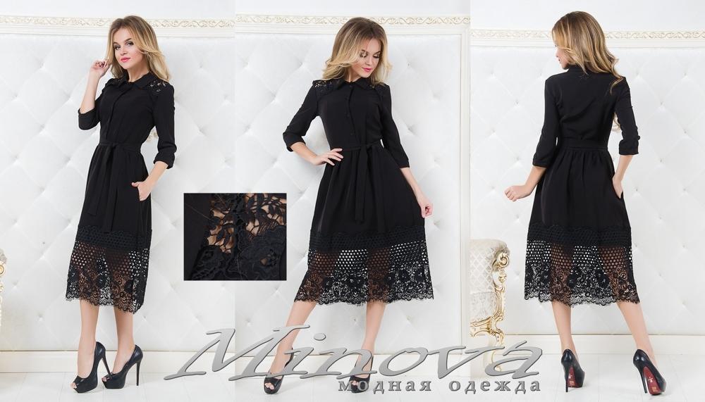 Платье №1059 (черный) (sale)