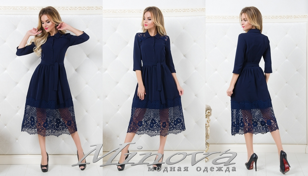 Платье №1059 (т.синий) (sale)