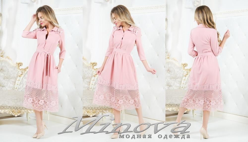 Платье №1059 (пудра) (sale)