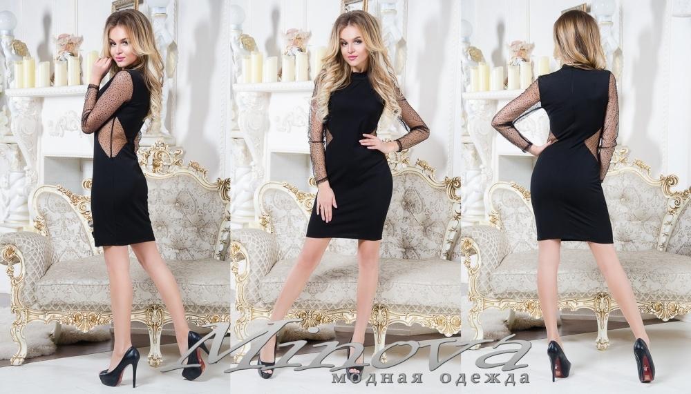 Платье №1013 (черный) (sale)