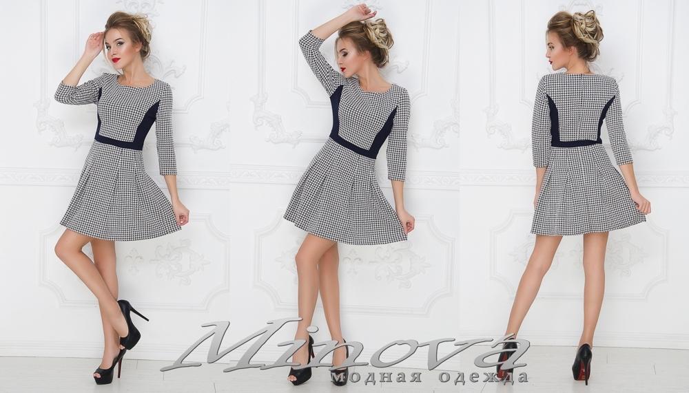 Платье №1004 (синий-белый) (sale)
