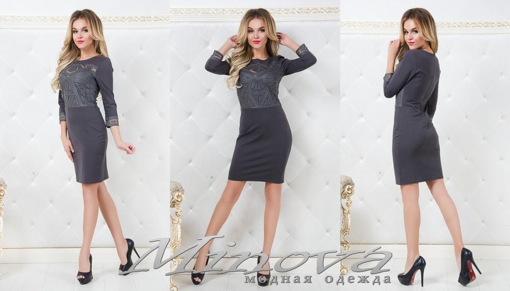 Платье №1007 (серый) (sale)