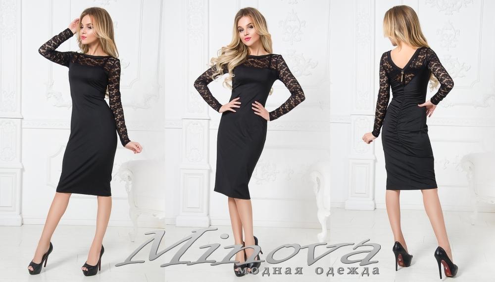Платье №1225 (черный) (sale)