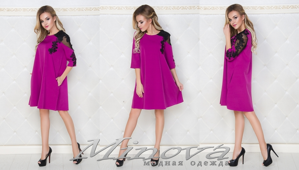 Платье №029мн (фуксия) (sale)