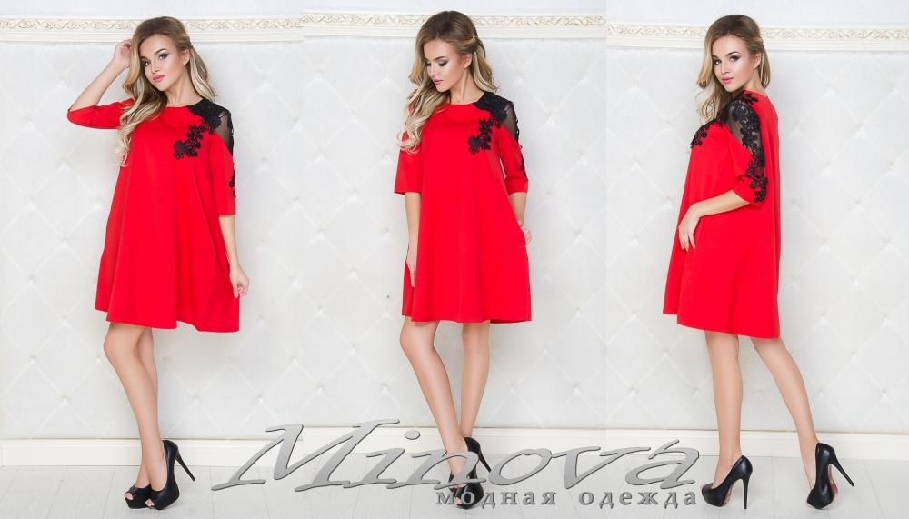 Платье №029мн (красный) (sale)
