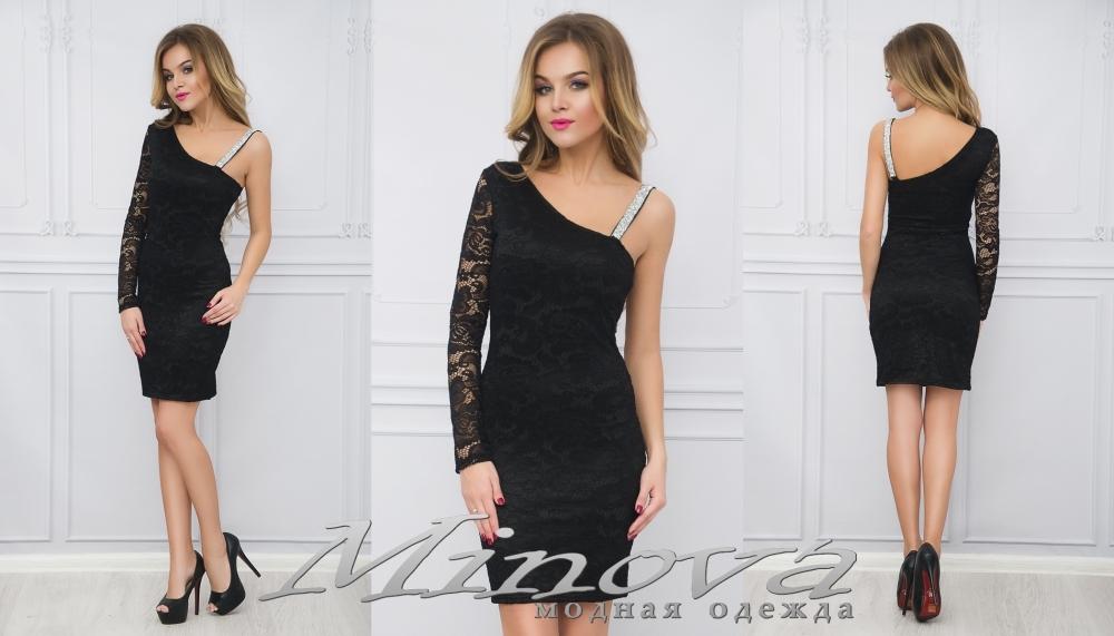 Платье №665 (черный) (sale)