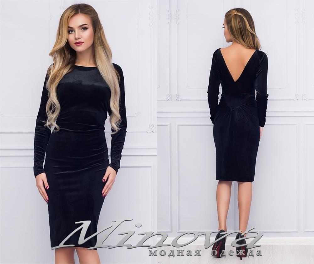 Платье №1022 (черный) (sale)