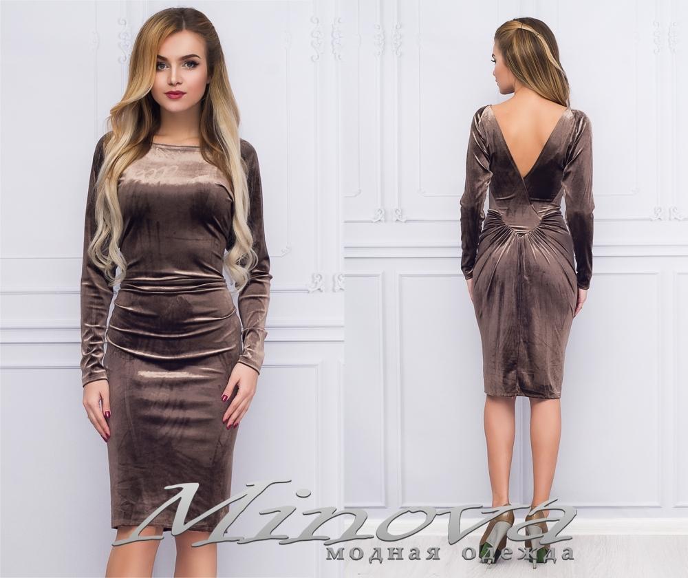 Платье №1022 (коричневый) (sale)